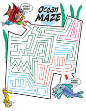 Ocean Maze activity sheet - Pediatric Dentist in Cary, NC